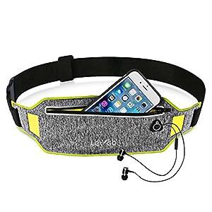 Running Belt iPhone 7 plus Waistband Sweatproof Running Pouch Belt for iPhone 6 Running Belt Fanny Packs for Women & Men, Reflective Waist Pack Belt