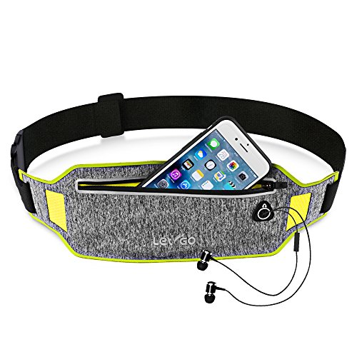iPhone 8 Running Belt iPhone 7 plus Waistband Sweatproof Running Pouch Belt for iPhone 6 Running Belt Fanny Packs for Women & Men, Reflective Waist Pack Belt