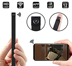 1080P WIFI Hidden Camera, DigiHero Mini WiFi Camera, Security Camera, Nanny Cam with Motion Detection for Home/Office, Support iOS, Android, PC