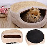 Domybest Macaron Design Pet Supplies Cats Dogs Sleeping Kennel Beige