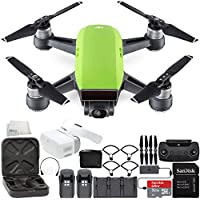 DJI Spark Portable Mini Drone Quadcopter Fly More Combo Virtual Reality VR FPV POV Experience Ultimate Bundle (Meadow Green)