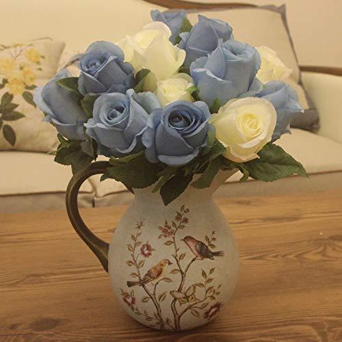 Mountain head アメリカンガーデン装飾花瓶セラミックヴィンテージ花瓶クリエイティブテーブルコーヒーテーブル装飾片耳ミルク水差し花瓶 Mountain head B07QJ9CH9D