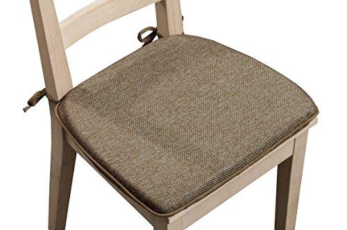 Arlee Wallace Foam Set of 2 Chair Pad, Safari, 2 Piece