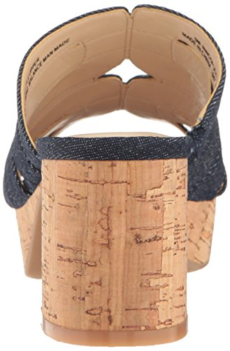 Nine West Women's Copula Denim Dress Sandal Navy rPz8aR9