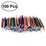 100 Random Colors 0.7mm Gel Ink Pen Refills Neon Glitter Metallic Pastel for Coloring Books Crafting Doodling Scrapbooking Drawing Non-Toxic and Acid-Free