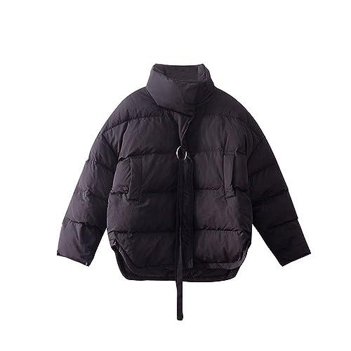 Invierno Chaqueta algodón negro grueso pelaje corto mujer, suelta la ropa de algodón Algodón Algodón...