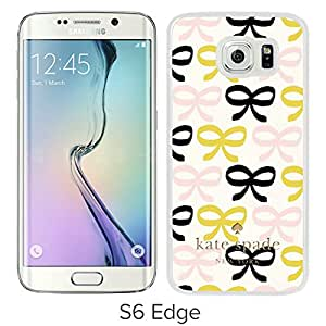 Luxurious And Nice Custom Designed Kate Spade Cover Case For Samsung Galaxy S6 Edge White Phone Case 222