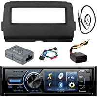 Audio Bundle For 2014 and Up Harley -JVC KD-AV41BT 3 Marine DVD USB AUX Bluetooth Stereo Receiver Combo With Dash Install Kit and Handle Bar Controller for Motorcycle, Enrock 22 Radio Antenna