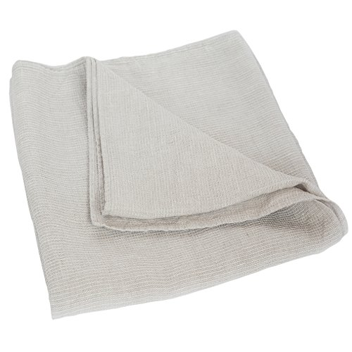 Handmade Washed Organic Bath Towel - Lightweight Thin 100% Natural Linen Flax 26.5x58 Inch Gray Waffle Weave Quick Drying Shower Beach Body Hair Sauna Spa Bathroom Travel Gym Washcloth by Thingstore