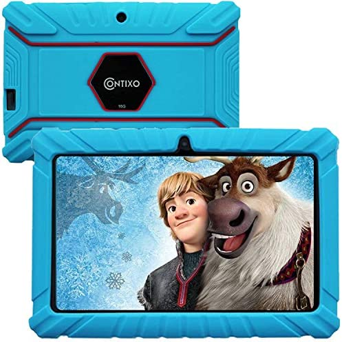 Contixo V8-2 7 inch Kids Tablets - Tablet for Kids with Parental Control - Android Tablet 16 GB HD Display Durable Case & Screen Protector WiFi Camera-Learning Toys for two to ten Years Old, Blue