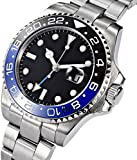 Fanmis GMT Master Sapphire Glass Blue and Black Ceramic Bezel Men's...