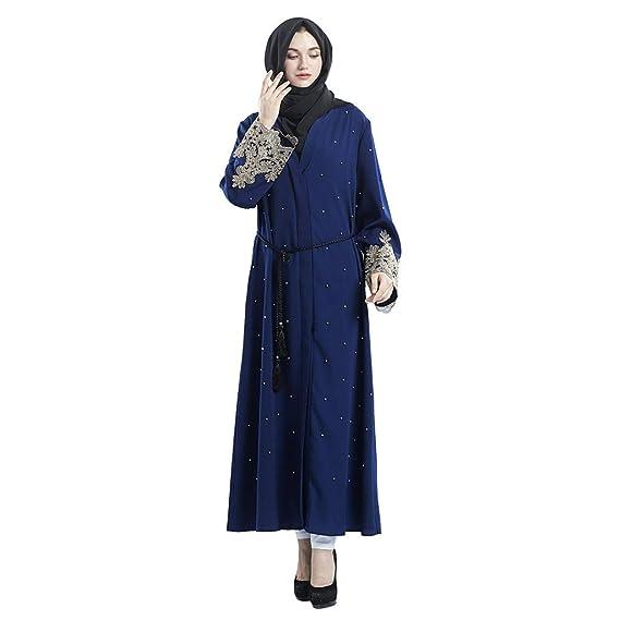 Gilet Dubaï Longues Ybwzh Musulman Manches À La Islamique Brodées 5RLq3c4Aj