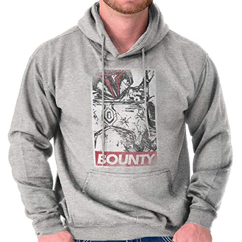 Space Bounty Hunter Classic Nerd Movie Hoodie Sport Grey ()