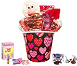 valentines day kids gift baskets - Valentine Day Gift For Her & Him - Valentines Gifts Basket Set For Kids - All Premium Brand Name Chocolate & Sweets Gift Baskets