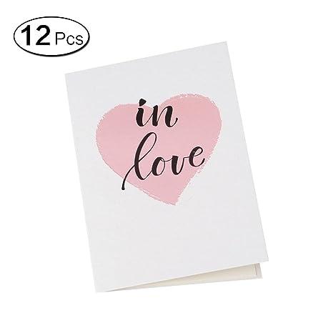 Amazon.com: Jia Hu 12 Mini tarjetas de felicitación con ...