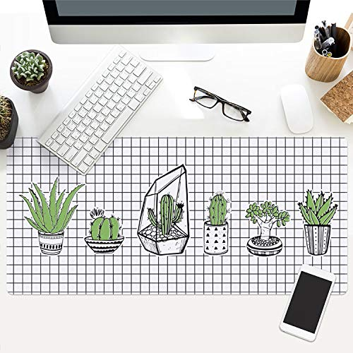Ins Plant Series Game Mouse pad Large Thick Waterproof Office Notebook Table mat, 2,400x900x3mm ()