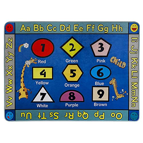 GABWE ABC Children Area Rug Animals Educational Learning Alphabet Rug Carpet 31.5