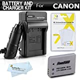 Battery And Charger Kit For Canon PowerShot S100 SX230HS, SX-230HS, SX210IS SX200IS SD990IS SD970IS SD950IS SD900 SD890IS SD880IS Includes Replacement NB-5L Extended Battery + Ac/Dc Charger + More