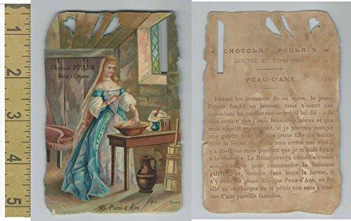 1890's Diecut, Poulain Chocolate, Fairy Tale, Donkey Skin, 10, ZQL