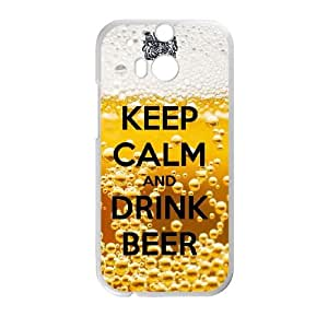 Keep Calm Drink Beer HTC One M8 Cell Phone Case White JNC67CK6
