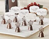 ''Lustrous Leaf'' Kissing Bell Place Card/Photo Holder (Set Of 24) , 5