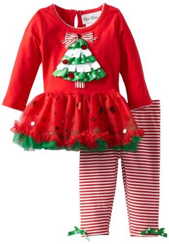 Christmas Tree Tutu Legging Set for Infants