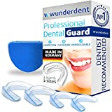 #4: Professional Dental Night Guard - Pack of 4 - Made in Germany - Teeth Grinding Night Protector, Athletic Mouth Guard, Teeth Whitening Tray - Stops Bruxism, Eliminates TMJ & Teeth Clenching - BPA Free