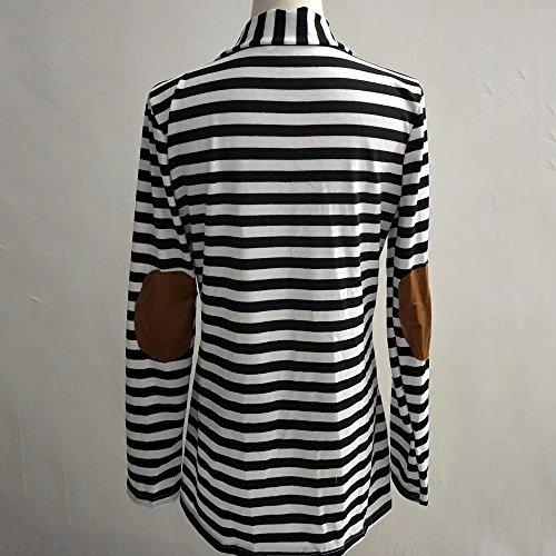 Outwear Veste Rayure Blanc Automne Longue Bonboho Manteau Femme Coton Ouvert Manche Cardigan S Printemps XXXXXL Bw8A4z