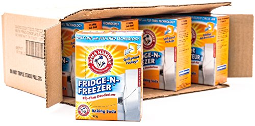 Arm & Hammer Baking Soda, Fridge-N-Freezer Pack, Odor Absorber, 17.6oz Packs, (Case of 12)