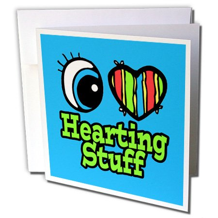 Dooni Designs Eye Heart I Love Designs - Bright Eye Heart I Love Hearting Stuff - 12 Greeting Cards with envelopes (gc_106157_2)