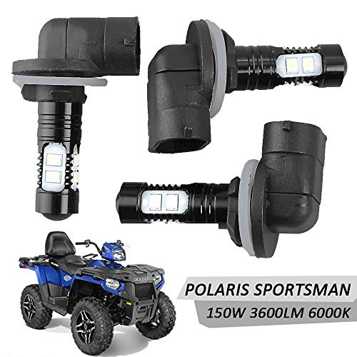 Led Headlight Bulbs Lamps 150W High Power 6000K Super White 3600LM For Polaris Sportsman RZR 570 Ranger ACE Magnum Hawkeye -