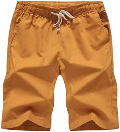 Obtto Shorts Informales de Verano Estilo de Moda de algodón para ...