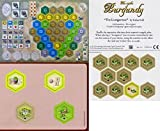 Castes Of Burgundy : The 2nd 4th 5th Expansion Bundle - Monastary, Pleasure Garden, New Hex Tiles