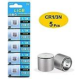 LiCB 5 Pack CR1/3N 3V Lithium Battery Replacement DL1/3N CR 1/3N Batteries