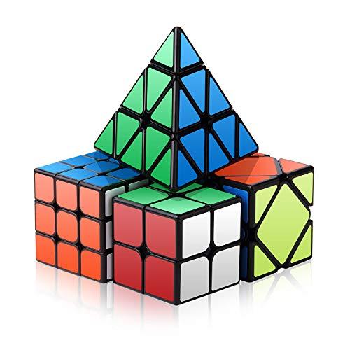 Roxenda Speed Cube Set, Magic Cube Set of 2x2x2 3x3x3 Skewb Pyramid Smooth Puzzle Speedcube]()