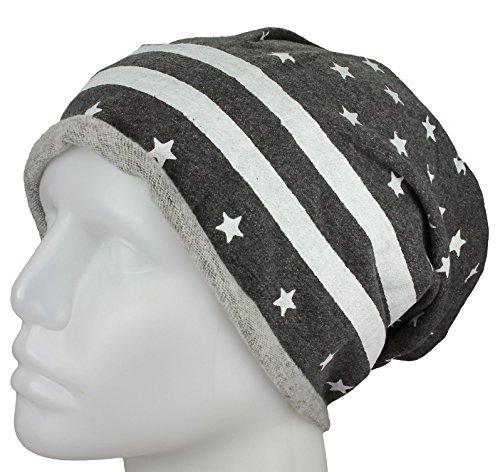 gorrita bandera de estrellas Gorra Heather UU Longo Jersey Charcoal y barras las rodó EE con la de z0Awz