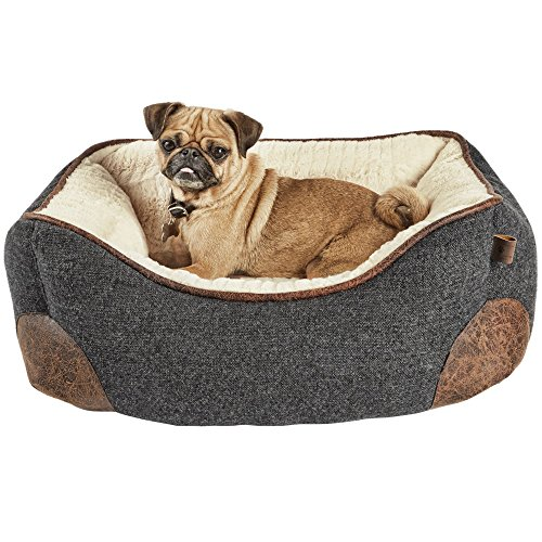 Cheap Harmony Grey Nester Memory Foam Dog Bed, 24″ L x 18″ W, Small, Gray/White