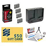4 Extended Life Replacement Battery Packs For the Canon LP-E8 LPE8 2000MAH Each 8000MAH in Total For The Canon Rebel T5i, T4i, EOS 650D, T2i 550D T3i, EOS 600D DSLR 2 Batteries In Total + 1 hour AC/DC Dual Battery Rapid Charger + Deluxe Lens Cleaning Kit + LCD Screen Potectors + Mini Tripod + 47stphoto Microfiber Cloth Photo Print !