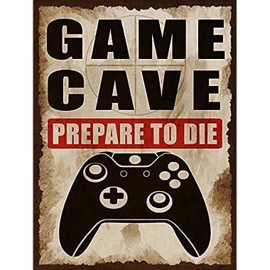Game Cave Metal Sign, Game Room, Man Cave, Kid's Room