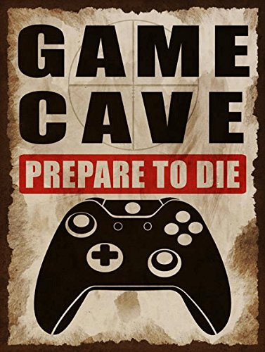 Metal Video Game (Game Cave Metal Sign, Game Room, Man Cave, Kid's Room)