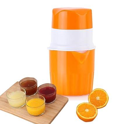 KOBWA Exprimidor de Mano Naranja Exprimidor Manual Tapa Rotación Prensa Reamer Maker para Lima Limón Pomelo