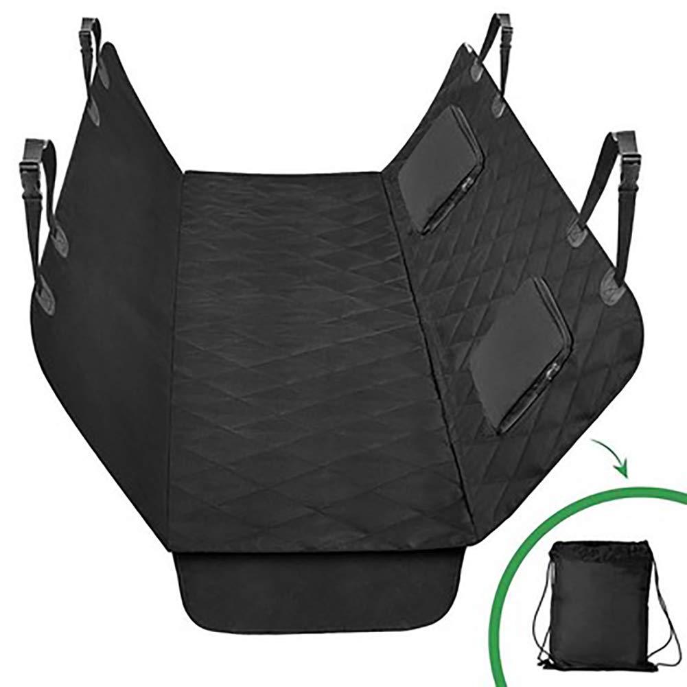 Copertura del sedile dell'automobile del cane, copertura posteriore impermeabile grande con supporto antiscivolo e ancore di seduta, universale si adatta a tutte le auto pet Cover (nero),nero