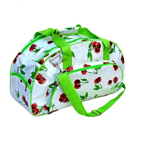 Borsa in tela cerata - Weekender bag - Borsa da viaggio, per la piscina, sauna, fitness - per donna - impermeabile, multicolore, vintage