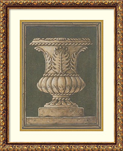 Framed Wall Art Print Neo Classical Urn by Janet Kruskamp 17.88 x 21.88