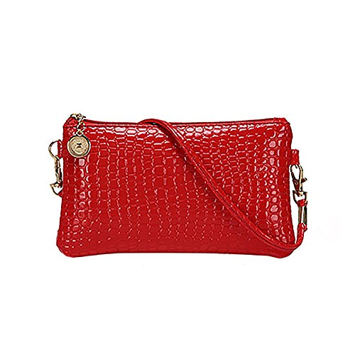 Women Faux Leather Zipper Clutch Mini Cross Body Shoulder Bag Phone Bag by Shengyuze (Image #10)