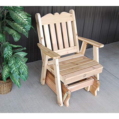 (A & L Furniture Co. Western Red Cedar Royal English Glider Chair - Ships Free in 5-7 Business Days)