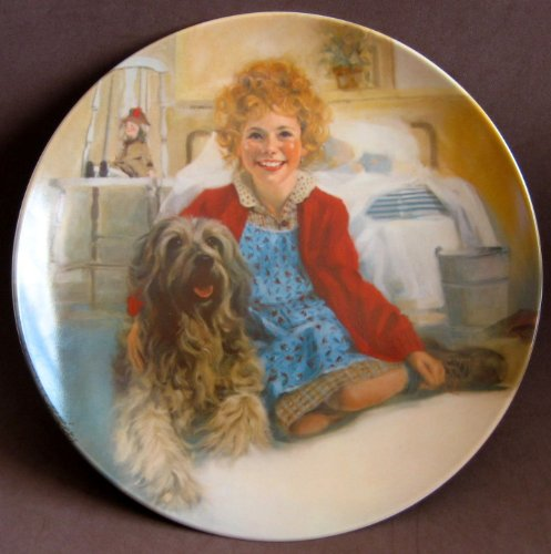 Little Orphan Annie China Collector Plate ANNIE and SANDY Limited Edition 1st Edition w Box, Booklet & Certificate of Authenticity (1982 Knowles China Co/Tribune) ()