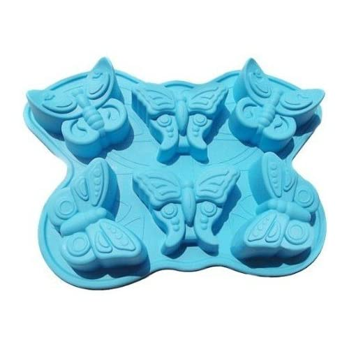 Allforhome(TM) 6 Insect Butterfly Silicone Cake Baking Mold Cake Pan Muffin Cups Handmade Soap Molds