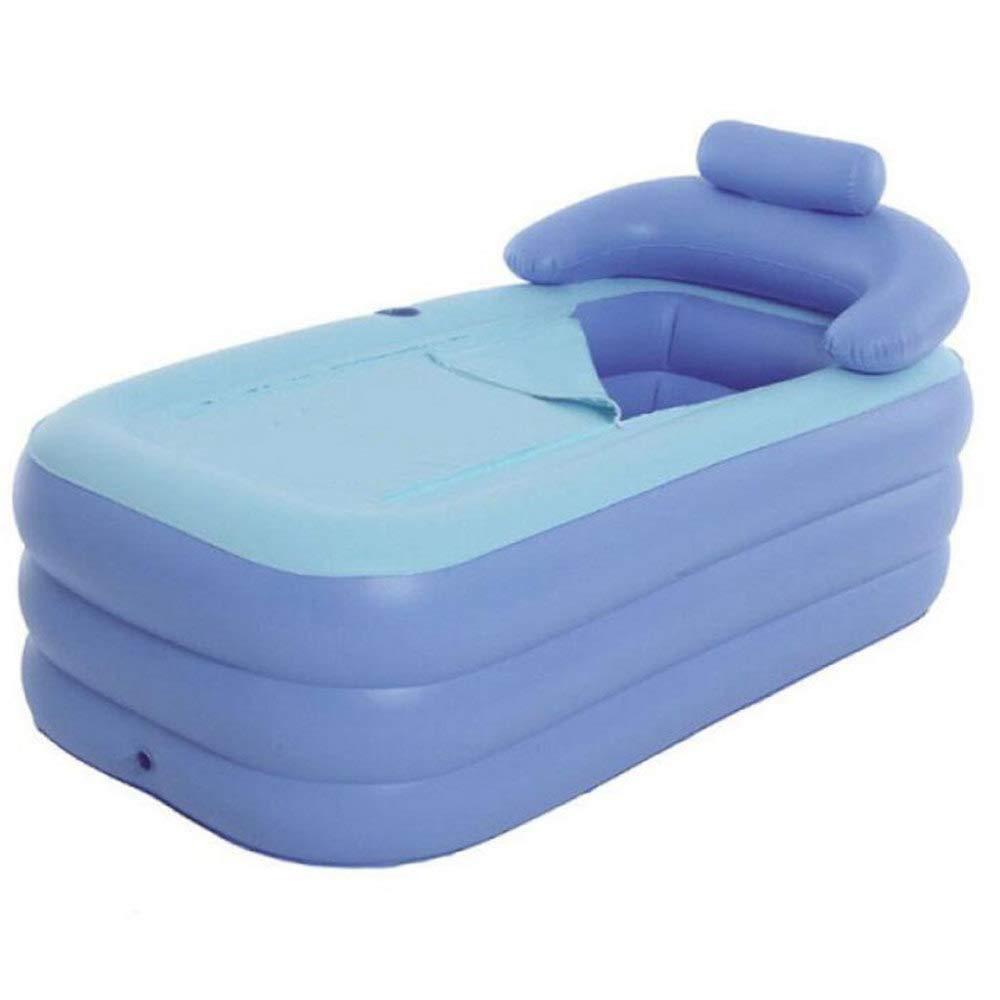 ZXDFG Foldable Inflatable Thick Warm Adults Bathtub Insulation Portable Folding Bath Sauna Bathtub Children Inflatable Pool(Multicolor),C