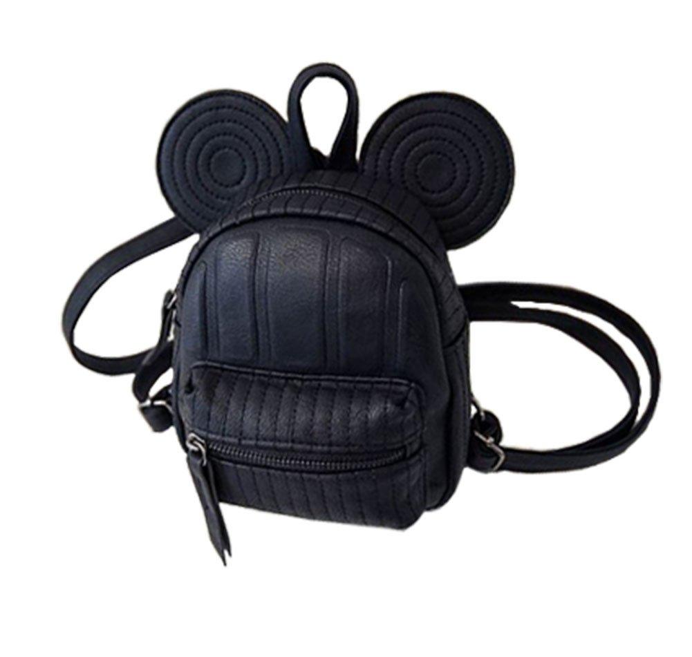 ModaKeusu Casual Purse Fashion Mikey School Leather Backpack Shoulder Bag Mini Backpack for Women & Girls